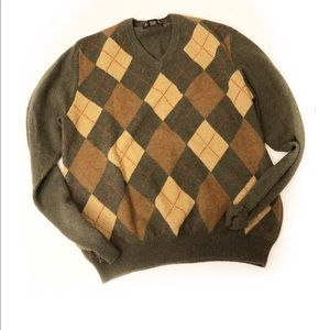 Brooks brothers Lambswool argyle sweater Sz L
